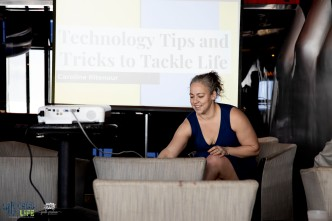 Speaker Caroline Ritenour teaching technology tricks to tackle life